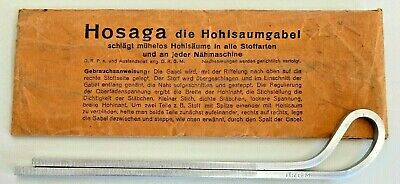 Antique 'Hosaga' Hemstitch Fork Tool Sewing from Germany