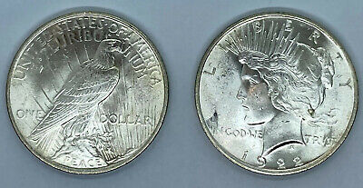 1922-P Peace Dollars - Uncirculated Condition, 90% Silver Dollar