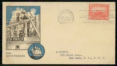 Mayfairstamps Haiti 1934 Seth Parker Cover wwe_82899