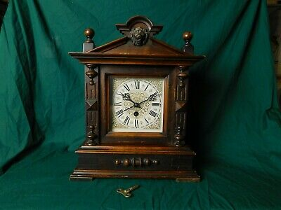 Antique Ph. Haas & Sons Wooden Cased Mantel Clock