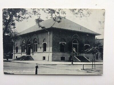 Postcard post office Streator IL 1909