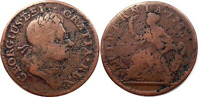 1723 Hibernia Halfpenny, Nearly VF, RARITY-5 , full legends and date NO RESERVE!