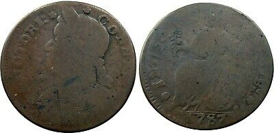 1787 Connecticut Copper.  Miller 33.5-T.2, RARITY-5 VARIETY, pleasing Fine+