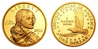 2006 S Sacagawea Gem Proof Dollar $20 US Coins Roll
