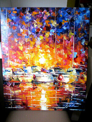 "Original Ölgemälde Von Leonid Afremov 216: ""Movement Of The Sea"""