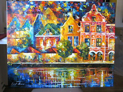 "Original Ölgemälde Von Leonid Afremov 215: ""Amsterdam Of My Dreams"""
