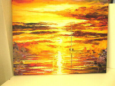 "Original Ölgemälde Von Leonid Afremov 2017: ""Sunset Of Feelings"""
