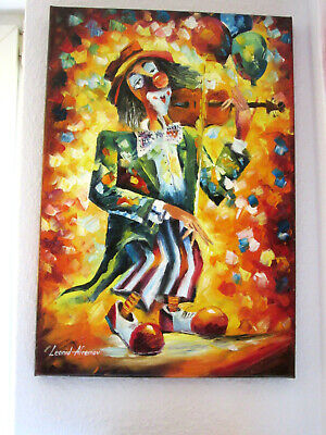 "Handgemaltes Ölgemälde Von Leonid Afremov ""The Clown""1"