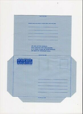 3 different Forces Air Mail Sheets Mint and very clean