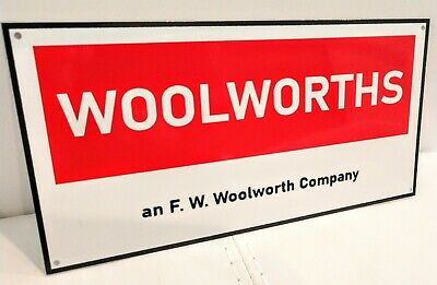 Woolworths F W Woolworth defunct store nostalgia sign