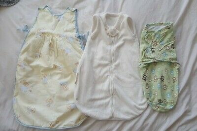 Sleep Sack Swaddle Lot Of 3 French Kiddopotamus adorable soft