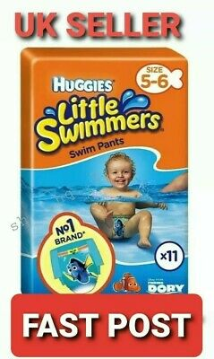 Huggies Little Swimmers Baby Swim Nappies 12kg - 18kg Size 5-6 Value Pack of 11