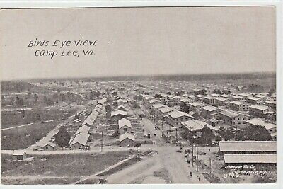 Camp Lee Petersburg VA Photo Postcard WWI Army Barracks Military View Thompson