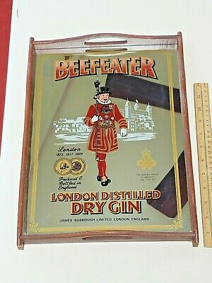 """Beefeater London Distilled Dry Gin Mirror Serving Tray 15.5"""" x 11.5"""""""