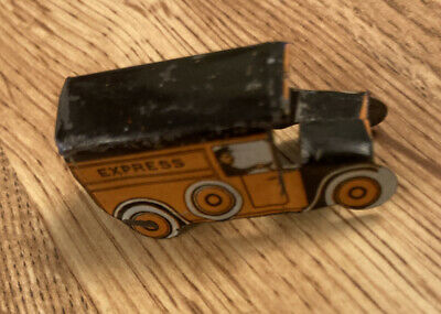CRACKER JACK EXPRESS TRUCK TIN LITHO STAND-UP TOY 1930's PRIZE PREMIUM