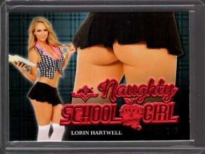 Lorin Hartwell /5 2020 Benchwarmer Hot For Teacher Naughty School Girl Butt Card