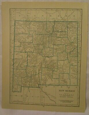 Original 1922 Map of the State of New Mexico