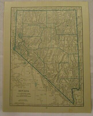 Original 1922 Map of the State of Nevada