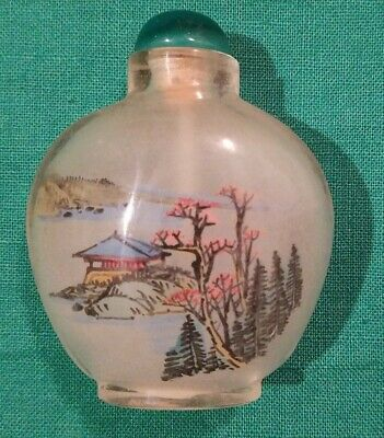 Chinese snuff bottle inside painted Mint condition