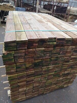 """5 X 4"""" x 1"""" X 6' TIMBER SAWN PRESSURE TREATED IDELA FOR UNDER PANELS BENCHES,"""