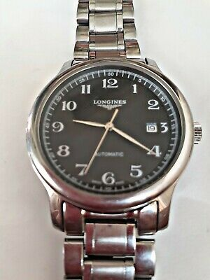 Longines Master Collection Mens Automatic Watch Stainless Steel Black Dial