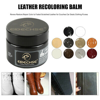 Faded & Worn Leather Dye Colour Restorer Sofa Chair Bag Repair Balm 50ml US