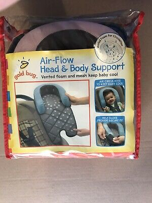Goldbug Air Flow Baby infant Head and Body Support Pillow~Car seat~Stroller~NEW