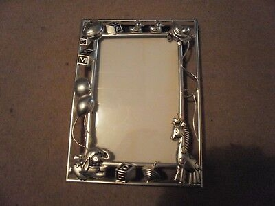 Silver plated baby child photo picture frame photoframe nursery Christening gift