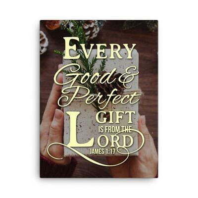 James 1:17 Bible Verse Printed On Ready To Hang Stretched Canvas Wall Art