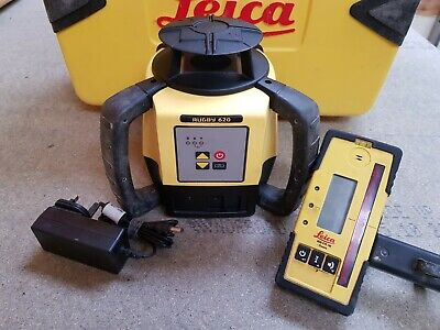 Leica Rugby 620 Laser Level with Receiver, Rechargeable - 12month's calibration