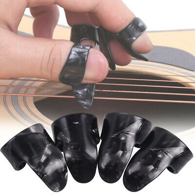 4Pcs Bass Gift Finger Nail Thumb Ukulele Accessories Guitar Pick Celluloid