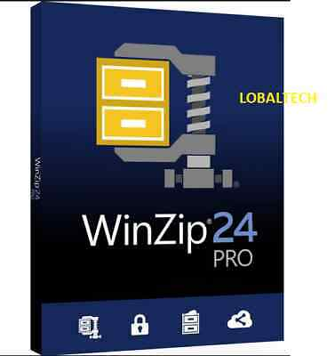 WinZip 24 PRO - LIFETIME - For One PC - for WINDOWS 64 bits only