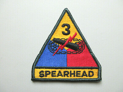 U.s Army 3Rd Armored Division *Spearhead* Military Patch #2