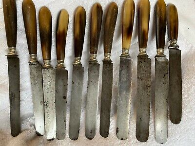 19Th Century Antique French Steel Knives Cased