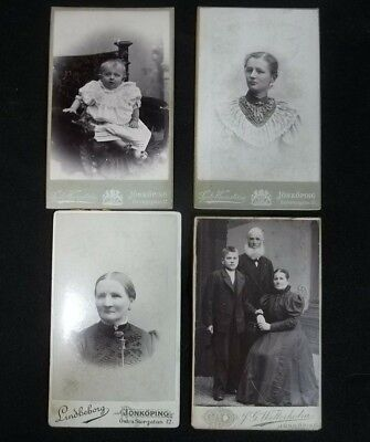 Vintage Mounted Pictures Photographs Family Women Baby