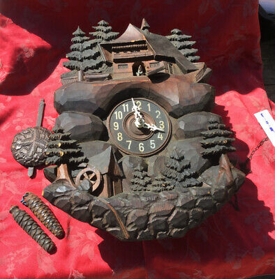 Unusual Large Cuckoo Black Forest   Clock Project For Spares Or Repair