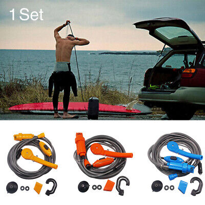 12V Outdoor Hiking Portable Travel Car Shower Kit Easy Install Vehicles Washer