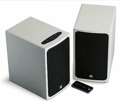 Q Acoustics BT3 Bluetooth Compact Speakers Piano White - IMMACULATE CONDITION!