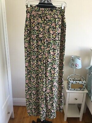 Biba Original Vintage Ladies Trousers Floral Size 8/10