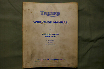 Truimph Motorcycle Workshop Manual for 6T, TR6, T120.