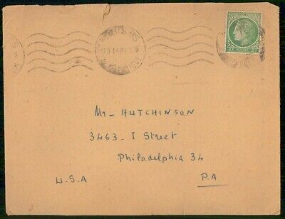 Mayfairstamps France 1948 Paris to Philadelphia cover wwe1875