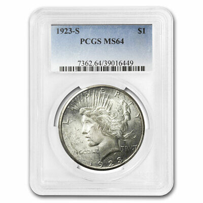 1923-S Peace Dollar MS-64 PCGS - SKU #25294