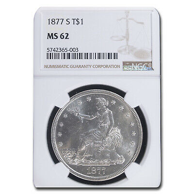1877-S Trade Dollar MS-62 NGC - SKU #93302