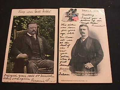 1902 & 1904 Theodore Roosevelt President Of The United States Postcards