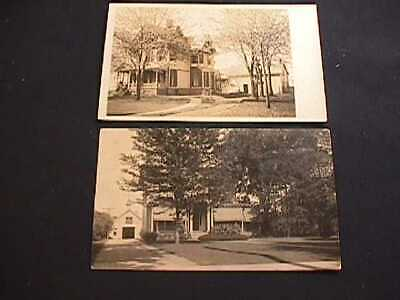 1910 & 1911 Victorian Houses, Rochester, New York Real Photo Postcards