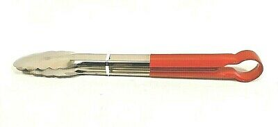 """14 """" Colour Coded RED Stainless Steel Tongs Deli Buffet Serving CATERING Tong"""