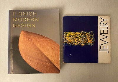 2 Design Books: Finnish Modern Design & Jewelry (1970) english Finnland Schmuck