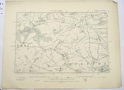 1891 OS 6 inches to a mile Map of Devonshire – Blaydon CXXINE