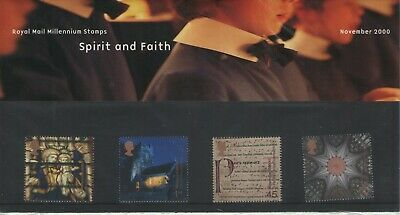 GB SPIRIT AND FAITH 2000  ROYAL MAIL PRESENTATION PACK OF MINT STAMPS FREE p&p
