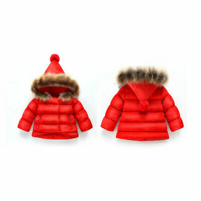 New Baby Kids Girl Boy Hooded Winter Warming Thick Coat Jacket Tops Outerwear